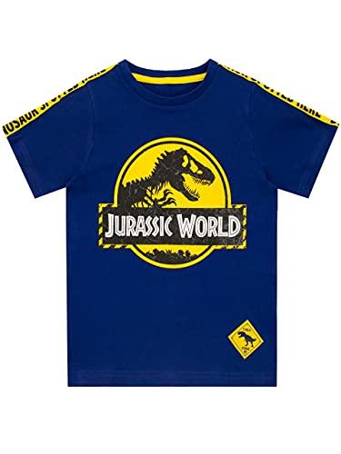 Jurassic World Camiseta para Niños Dinosaurio Azul 5-6 años