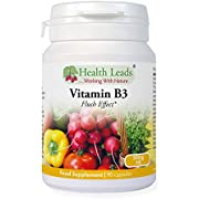 Vitamin B3 Niacin/Nicotinic Acid (Flush Effect) 50mg, Magnesium Stearate Free & No Nasty Additives, Made in Wales … (90 Capsules)