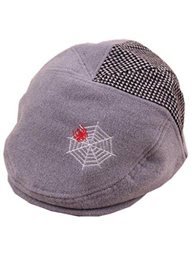 YICHUN Bébé Enfant Garçon Fille Chapeau Béret Casquette Chaud Chapeau de Base-Ball Bonnet(Tour de Tête :47-51cm) (Gris)