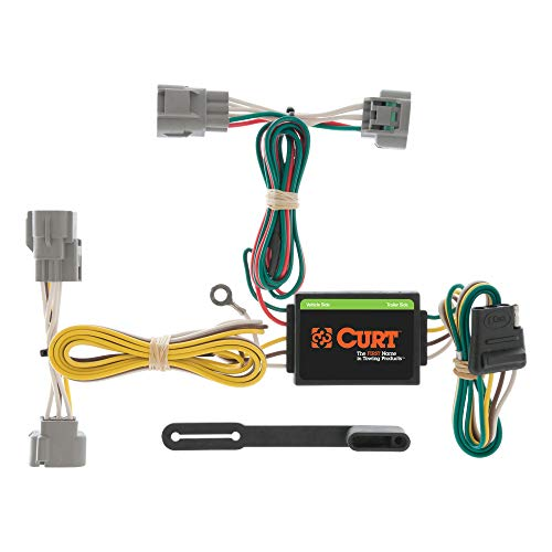 CURT 55513 Vehicle-Side Custom 4-Pin Trailer Wiring Harness, Select Toyota Tacoma, T100, Hilux