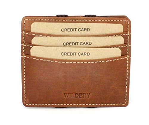 Wildery® Magische portemonnee met RFID/NFC-bescherming voor mannen en vrouwen Portemonnee als een kleine dunne creditcardhouder BZW. Portemonnee slank mini portemonnee