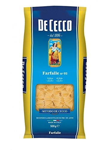 10x Pasta De Cecco 100% Italienisch Farfalle n. 93 Nudeln 500g