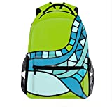 15 Inch Laptop Bag Travel Whale Logo Sketch For Your Design Daypack for Women Men Large Capacity