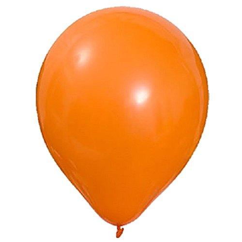 50 Piezas 10 (25 CM) Globos Pearlised Aire o Helio Boda Cumpleaños Fiesta de Navidad Decoración Disponible en 14 Colores (Naranja)
