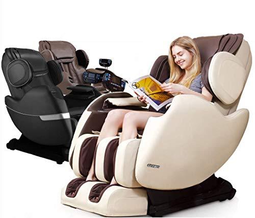 R Rothania Ospirit New Electric Full Body Shiatsu Massage Chair Recliner Straight I Track 3yr Warranty (Brown)