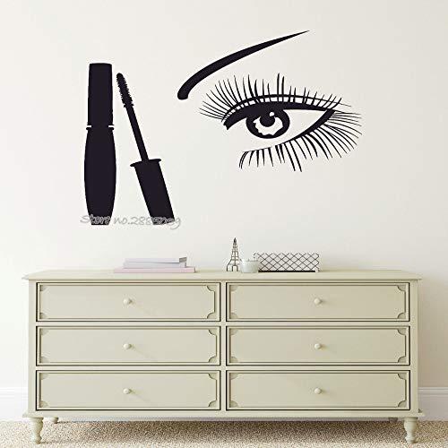 zzlfn3lv Woman Eye Beauty Salon Style Wandaufkleber Vinyl Cleansing Mascara Wandaufkleber...