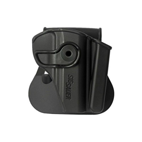 IMI Compatible Polymer Holster + integrated Mag Pouch for SIG P232, KEL-TEC P-3AT .380, RUGER LCP .380 Black