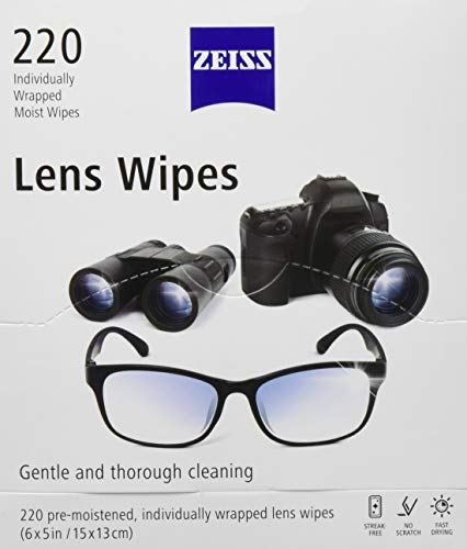 Zeiss Lens Wipes, White 220 Count
