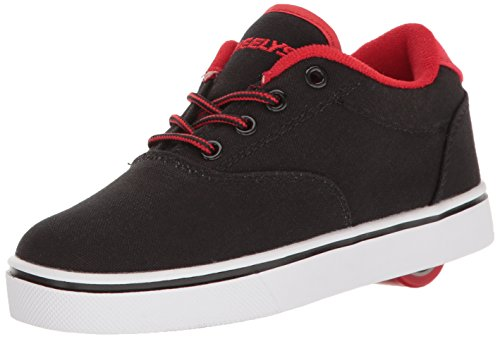 Heelys Launch, Chaussures de Tennis garçon, Noir (Black/Black/Red), 31 EU