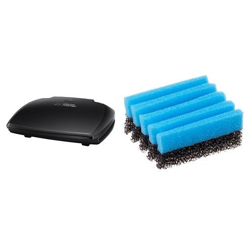 George Foreman Entertaining 10-Portion Grill 23440 - Black & George Foreman Cleaning Sponge 12207 - Blue, Pack of 2