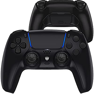 HexGaming HEX Rival Controller 2 Mappable Back Buttons & Replaceable Thumbsticks & Hair Trigger for PS5 Controller Customized Game Controller PC Wireless FPS Gamepad