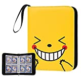 4-Pocket Cards Binder - 320 Trading Cards Album Compatible with PM TCG Cards/Baseball Cards/Yugioh Cards/and Other Card Games(Yellow)