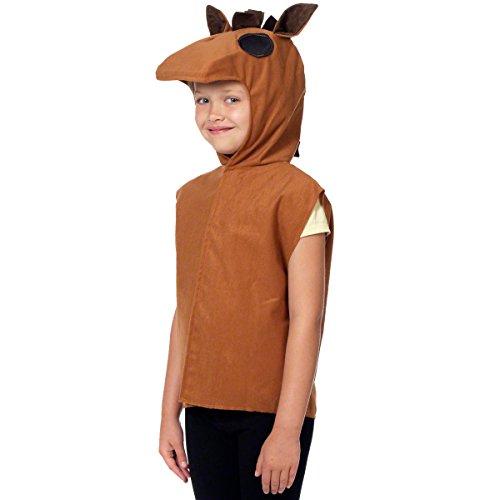 Unbekannt Charlie Crow Pferdekostüm für Kinder - Einheitsgröße 3-8 Jahre.