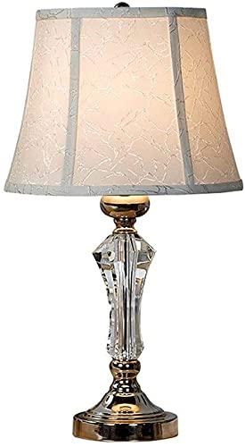 XFXDBT Lámpara de Mesa de Cristal Sombra de Lino Moderna Minimalista Minimalista Sala de Estar Dormitorio Lámpara de Mesa de Lujo Lámpara de Mesa Oficina de Oficina Boda