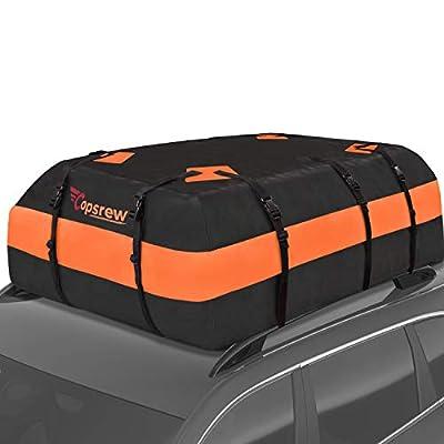 Copsrew 20 Cubic ft Car Roof Bag Top Carrier Ca...