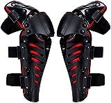 QMYS Rodilleras para motocicleta, rodilleras y espinilleras para motocross Racing Rodilleras de engranaje de protección para bicicletas de carreras todoterreno, motocross monopatín (rojo)