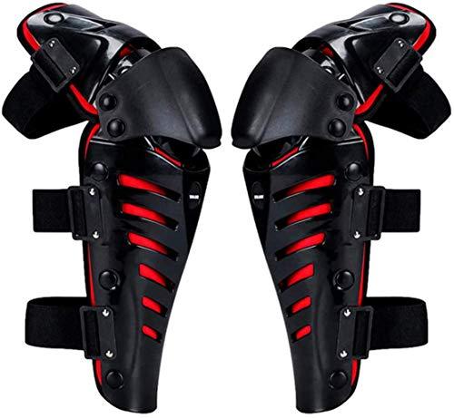 QMYS Rodilleras para motocicleta, rodilleras y espinilleras para motocross Racing Rodilleras de...