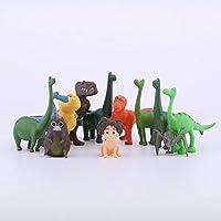 おもちゃ 12ピース/セットムービーグッド恐竜PVCフィギュアアーロスポットヘンリーブチミニモデルおもちゃアクションフィギュア