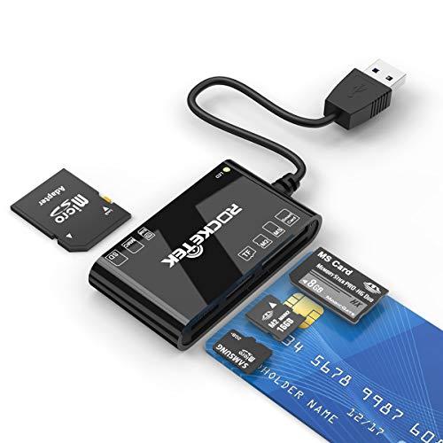 Lettore di Smart Card, USB Multi Port ID Card Reader Lettura e scrittura Smart Card/Micro...