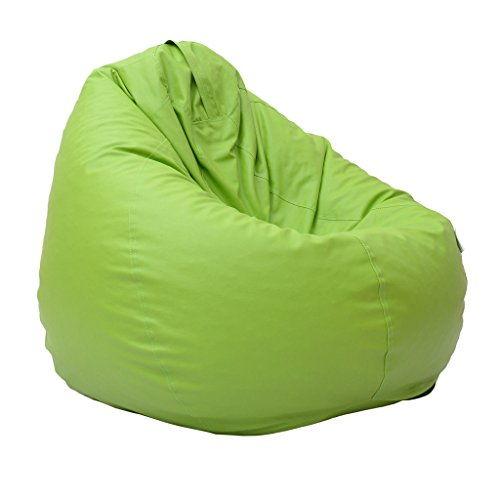 Relax Green XXL Size leather Bean Bags Cover(without filling)