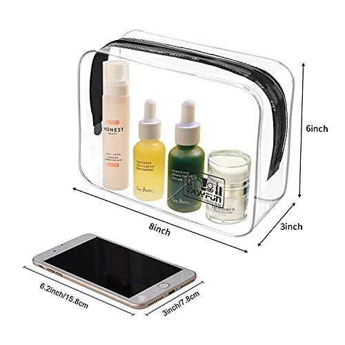 TSA Approved Toiletry Bag Travel Clear Makeup Bags 2 PCS Travel Accessories Quart Size for Men Women