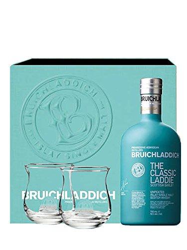 Bruichladdich Scottish Barley Laddie Classic 0,7 Liter + 2 Gläser + hochwertiger Geschenkverpackung