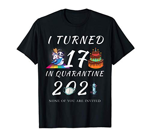 I Turned 17 In Quarantine 2021 - Funny 17th Birthday Gift T-Shirt