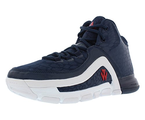 Adidas J Wall Jr Zapatillas de Baloncesto, Azul Marino/Blanco/Rojo