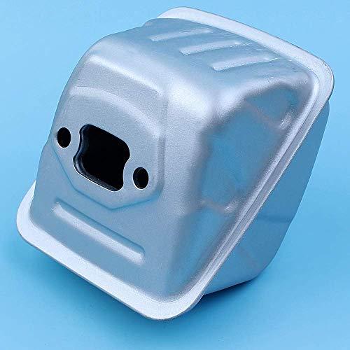 HaoYueDa Conjunto de silenciador de Escape Compatible con Motosierra Husqvarna 135 135E 140 140E Reemplazo de Piezas de Repuesto 544147702