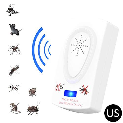 Ultrasonique anti-parasite 2019-Accueil moustique insecte tueur professionnel plug en répulsif électronique-repousse les fourmis, les rats, les rongeurs, les cafards, les mouches des fruits,EU,1PCS