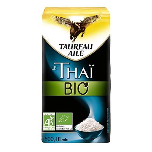 TAUREAU AILE - Riz Thai Bio 500G - Lot De 4 - Livraison Gratuite