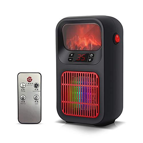 HONG Calefactor Cerámico Calefactor de Aire Portátil con Natural Función Ventilador,Termostato Ajustable y Protección Sobrecalentamiento