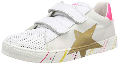 Naturino Damskie buty gimnastyczne Arlon Vl, Multicolour Bianco Fuxia Fluo 1n19-38 EU