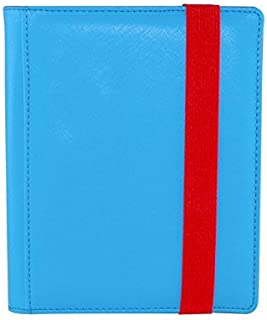 Dex Protection Dex Binder 4 Blue Portfolio 4-Pocket Velvet-Lined Album Holds 160 Cards Double Sided, Side-Load Binder fits Magic, Pokemon, Yu-Gi-Oh