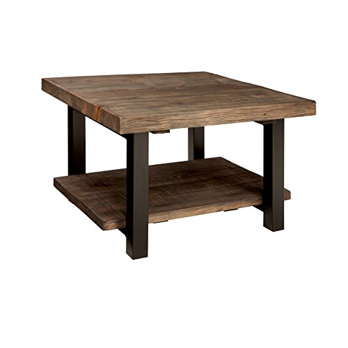 Alaterre AZMBA1320 Sonoma Rustic Natural Cube Coffee Table, Brown, 27'