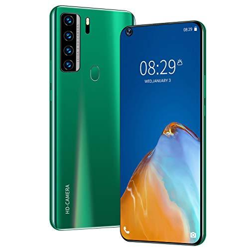 NOWA7 Smartphone ohne Vertrag Günstig (7.2 Zoll) HD, 5000mAh, 4GB RAM 64GB ROM, Android10.0, WLAN, Fingerabdruck, Face ID, Dual SIM Handy,Green