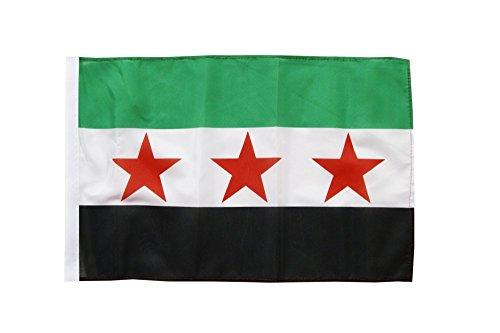 Flagge / Fahne Syrien 1932-1963 / Opposition - Freie Syrische Armee + gratis Sticker, Flaggenfritze®