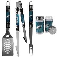 NFL Philadelphia Eagles 3 pc Tailgater BBQ Set & Salt & Pepper Shaker Set