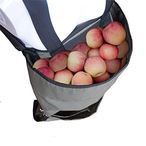 Obst, Apfel, Pflücken Tasche Große Gemüseernteaufbewahrungstasche mit veränderbarer Länge Jäten Kleid Tasche Grau Ablagefach Garten Berry Picking Schürze verdickte Oxford Küche