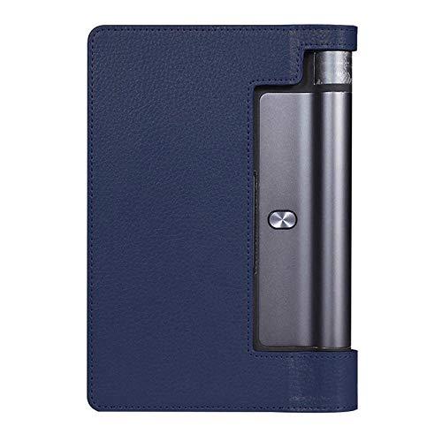 Funda de Cuero Flip Flio PU para Lenovo Yoga Tab 3 Pro 10.1 YT3-X90F X90L Tab3 Plus YT-X703f X703L Tablet pc Funda Capa-Azul Oscuro