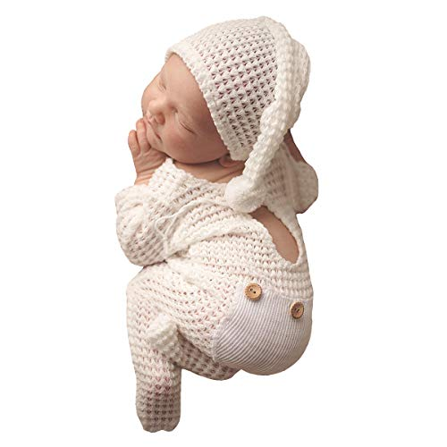 Newborn Photography Props Set Hat Bebe Reborn Accesorios Picture Outfits Baby Photo Studio Shoot Clothes Boy Costume Hat White