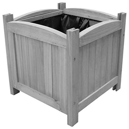 UnfadeMemory Garten-Hochbeete 2 STK Pflanzkasten Holz-Hochbeeten für Balkon und Garten 30x30x30 cm Massivholz Tanne