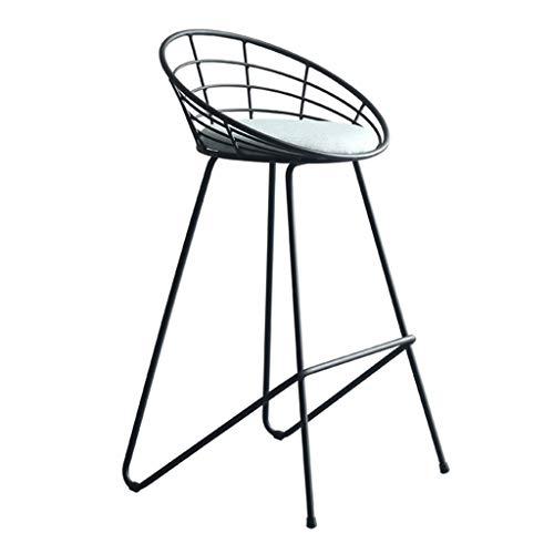 Sillas para el Comedor Asiento y Respaldo Suaves, sillas de salón de Terciopelo Blanco con Patas robustas de Estilo Moderno y de Metal Negro, sillas para el Comedor, Altura del Asiento 65cm/75cm