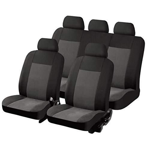 SUMEX FUNDBAS Car+ Texas - Fodera Sedile Universale, Set di 11 Elementi, Colore: Grigio e Nero