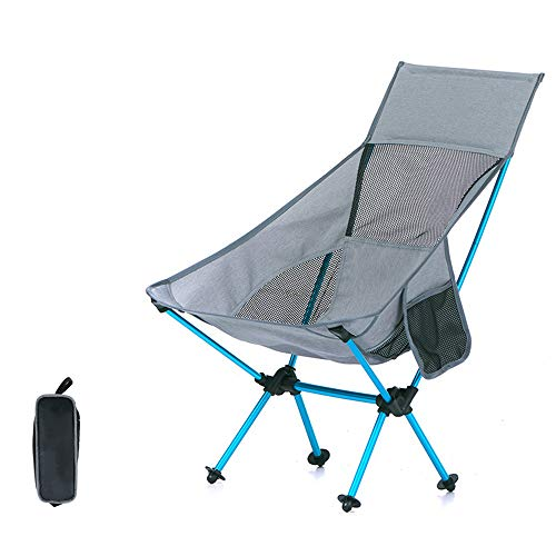 ZHANGJN Chaises Pliantes ultralégères en Aluminium pour extérieur, pêche, Festival, Plage, Voyage, randonnée, Alliage, Gris, Size 0.00watts