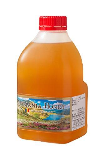 [熊手のはちみつ] ルーマニア産 はちみつ (ポリ 2kg) 100%純粋 ハチミツ 蜂蜜