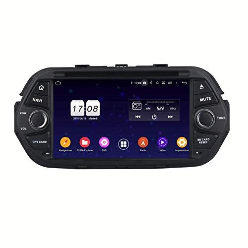 Android 9.0 Autoradio Navigazione GPS per Fiat Tipo Egea(2016-2020), 7 Pollici Touchscreen Lettore DVD Radio Bluetooth