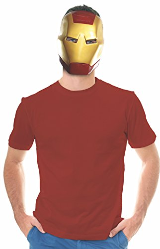 Rubie's Costume Co Unisex-Adults Ben Cooper Iron Man Mask, Multi, One Size