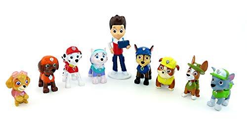 Paw Patrol 9 Figuren Helfer auf Vier Pfoten (Nickelodeon - Hundefiguren)