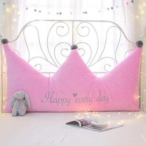 Einfarbig Kristall Samt Prinzessin Kopfteil Kissen Krone Abnehmbar Und Waschbar Große Rückenlehne Tatami Soft Pack Kissen,A-120 * 70 * 20cm
